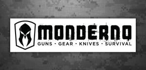 Monderno White Logo Sticker