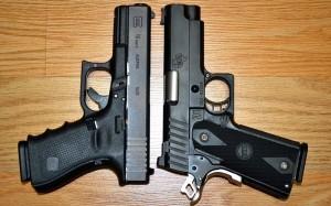 Glock 19 left, STI VIP right