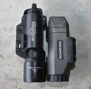 SureFire X300 left, INFORCE APL right