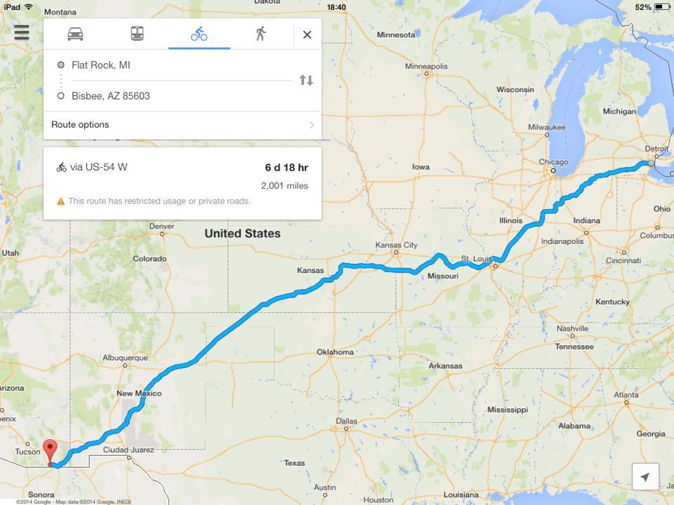 Trek's Route