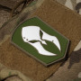 Monderno PVC patch in olive drab on a Tactical Tailor MultiCam bag